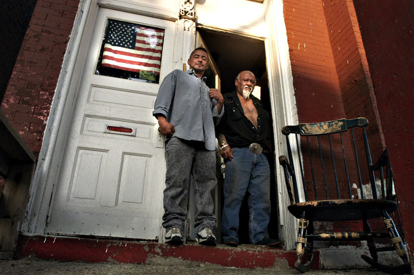 Daniel and his father Florentino Briseno (right) are residents of 821 N. Francisco Ave. in Chicago. The Briseno family has lived in Chicago's Humboldt Park neighborhood for more than 25 years.